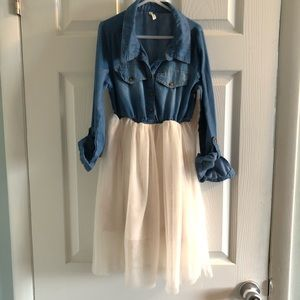 Other - Boutique Denim and Tulle Dress